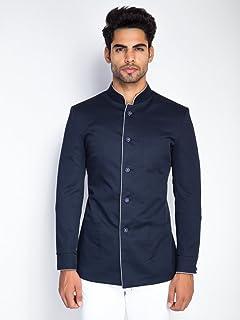 Mr Button Men s The Hot Bachelor Bandhgala Blazer  Amazon.co.uk ... 98432e817d