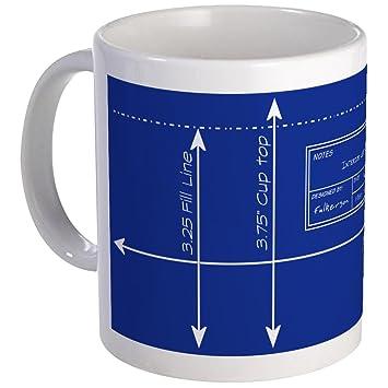 Amazon cafepress blueprint mug unique coffee mug coffee cafepress blueprint mug unique coffee mug coffee cup malvernweather Choice Image