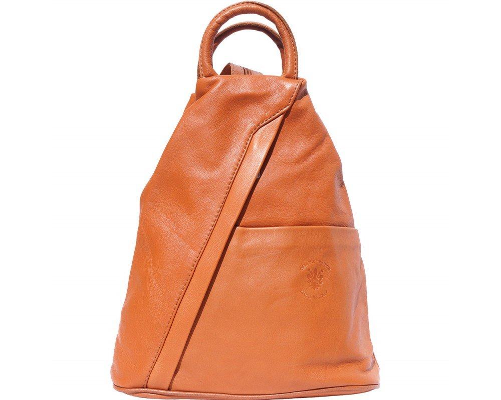 LaGaksta Submedium Italian Leather Backpack Purse Tan by LaGaksta