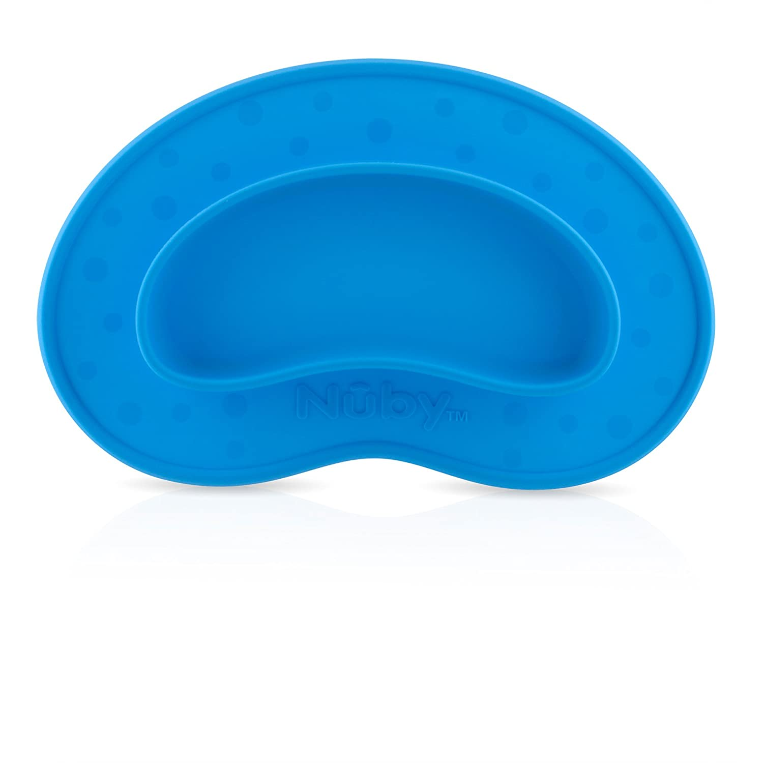 Nuby 537082BL Sure Grip Silicone Miracle Mat Plate, Blue