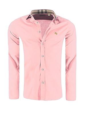 527f083da090 BURBERRY Brit Messieurs Chemise, Taille 2XL, Couleur Flamingo Rose ...