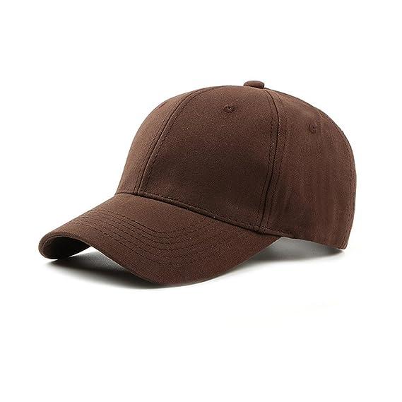 Weimay Sombrero de Sol Unisex Gorra de béisbol de Color Puro de ...