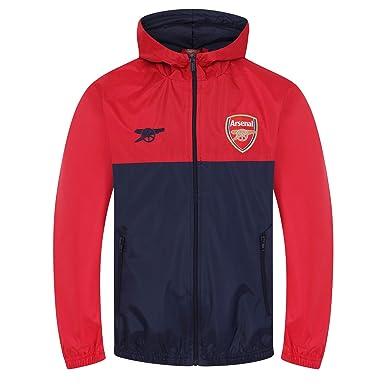 f030bf0f88f1b Arsenal FC - Chaqueta cortavientos oficial - Para niño - Impermeable -  Estilo retro  Amazon.es  Ropa y accesorios