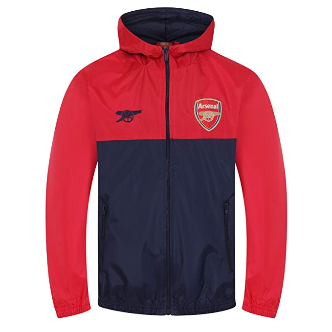 Amazon.com: Arsenal Football Club Official Soccer Gift Boys Shower Jacket Windbreaker: Clothing
