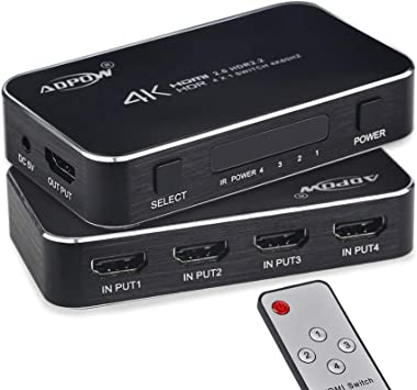 2in-1out,Ultra HD 4Kx2K@60Hz,Remote control HDMI 2.0 HDCP 2.2,Switcher Full 3D