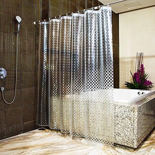 clear design shower curtain - 2