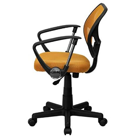 amazon com upholstered office chair on wheels pneumatic seat height