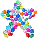65 Pcs Big Assorted Pirate Gems 38 Carat Acrylic Diamond Treasure Gemstones for Christmas Table Scatter, Vase Fillers…