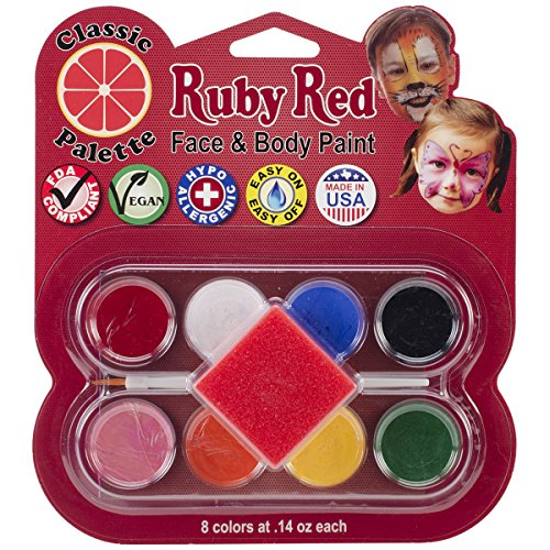 Ruby Red Face Paint Kit, Classic