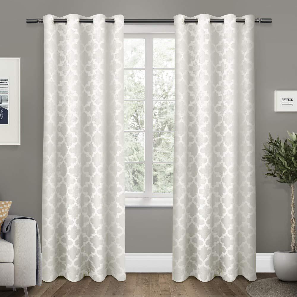 Exclusive Home Vorhänge Cartago isoliert Woven Verdunkeln Tülle Top Fenster Vorhang Panel, Vanille, 54 x Beton, Set von 2