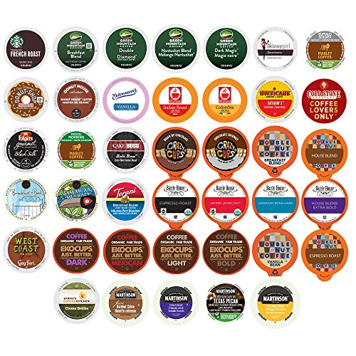 Coffee Variety Sampler Pack for Keurig K-Cup Brewers, 40 Count (selection may vary) 40 Assorted Teas