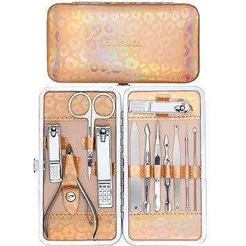 Amazon.com: ZIZION - Juego de cortaúñas para manicura y ...
