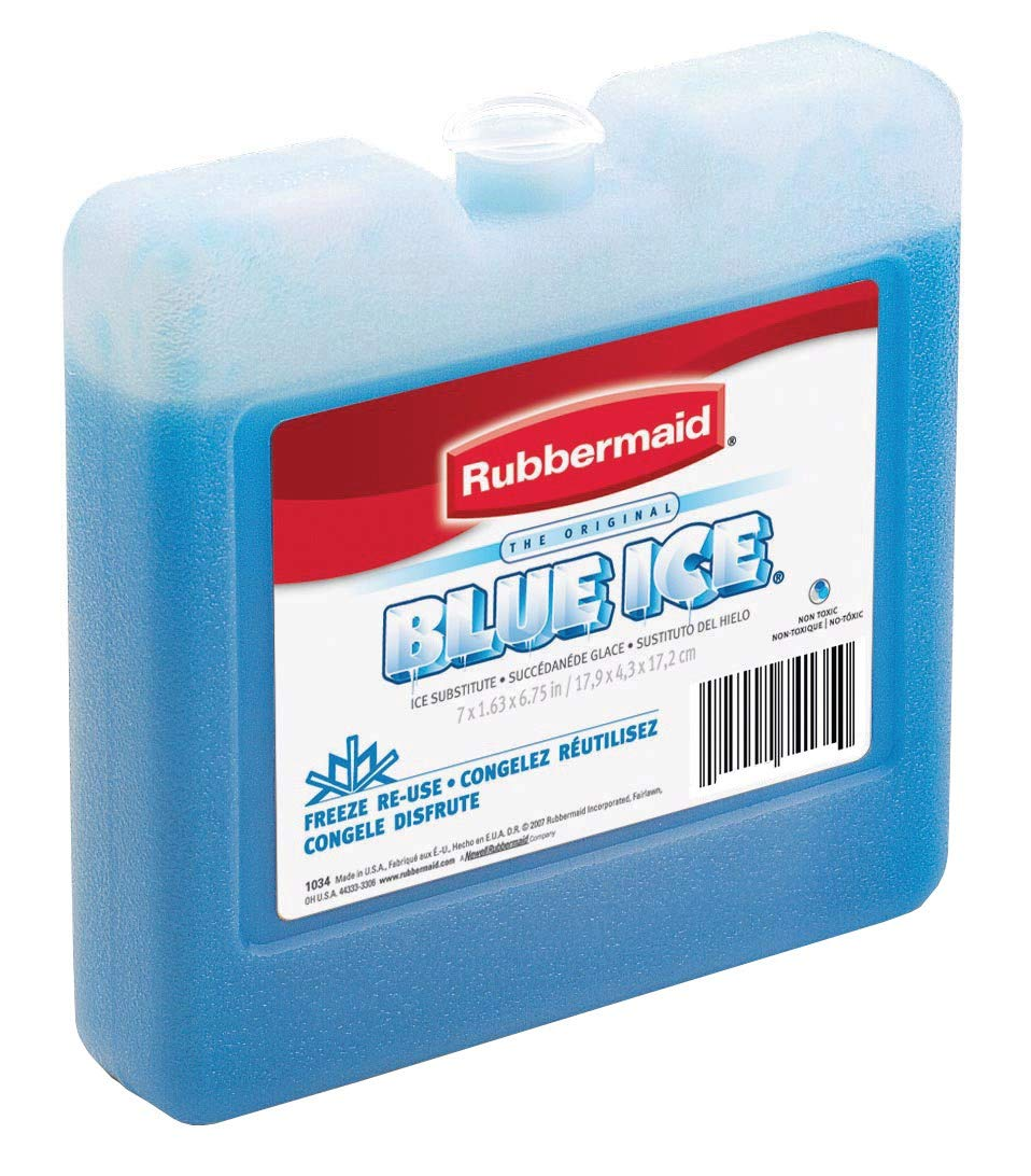 Rubbermaid FG1034TL220 7 X 1-1//2 X 6-3//4 Blue Ice Brand Weekender RUBBERMAID INC