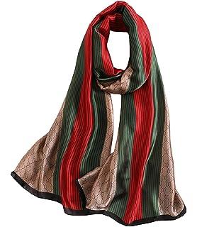 186ca938207 FM Womens Mulberry Silk Scarves Long Satin Lightweight Scarf For Women