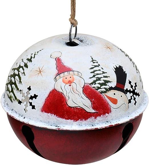 SET PRIMITIVE CHRISTMAS STACKING METAL TINS Vintage Style Holiday Santa Reindeer
