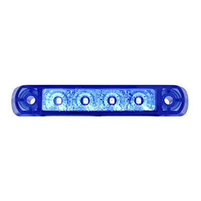 "GG Grand General 76085 Light Bar (4"" Surface Mount Blue 4 LED, 3 Wires): Automotive"