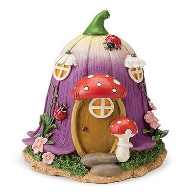 HearthSong 726304-TUL Miniature Woodland Fairy Garden Village House, Tulip: Garden & Outdoor