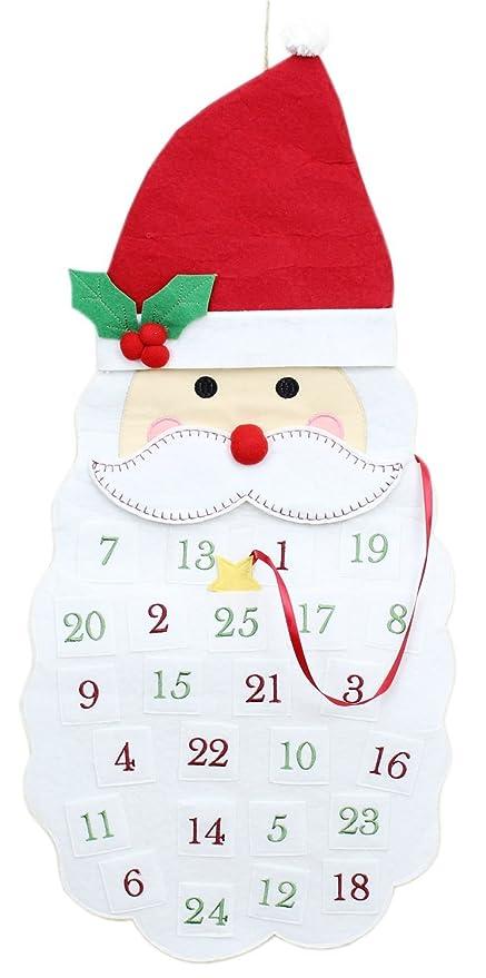 Gran diversión tela de la Navidad Santa Cabeza Barba sombrero ...