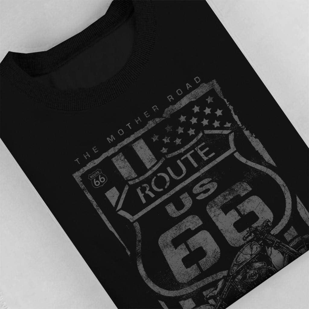 Route 66 Mother Road Patriot Flag Womens Sweatshirt