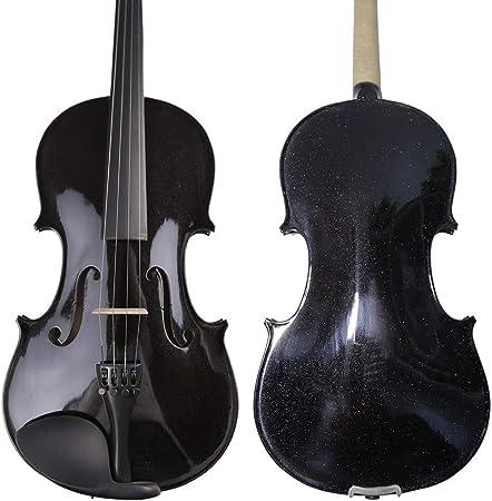 LOIKHGV Violines- TONGLING Aceite Barniz Principiante Violín Negro Madera de Arce Estudiante Violín violín con Estuche de Hombro con Arco, tamaño 1 8: Amazon.es: Hogar