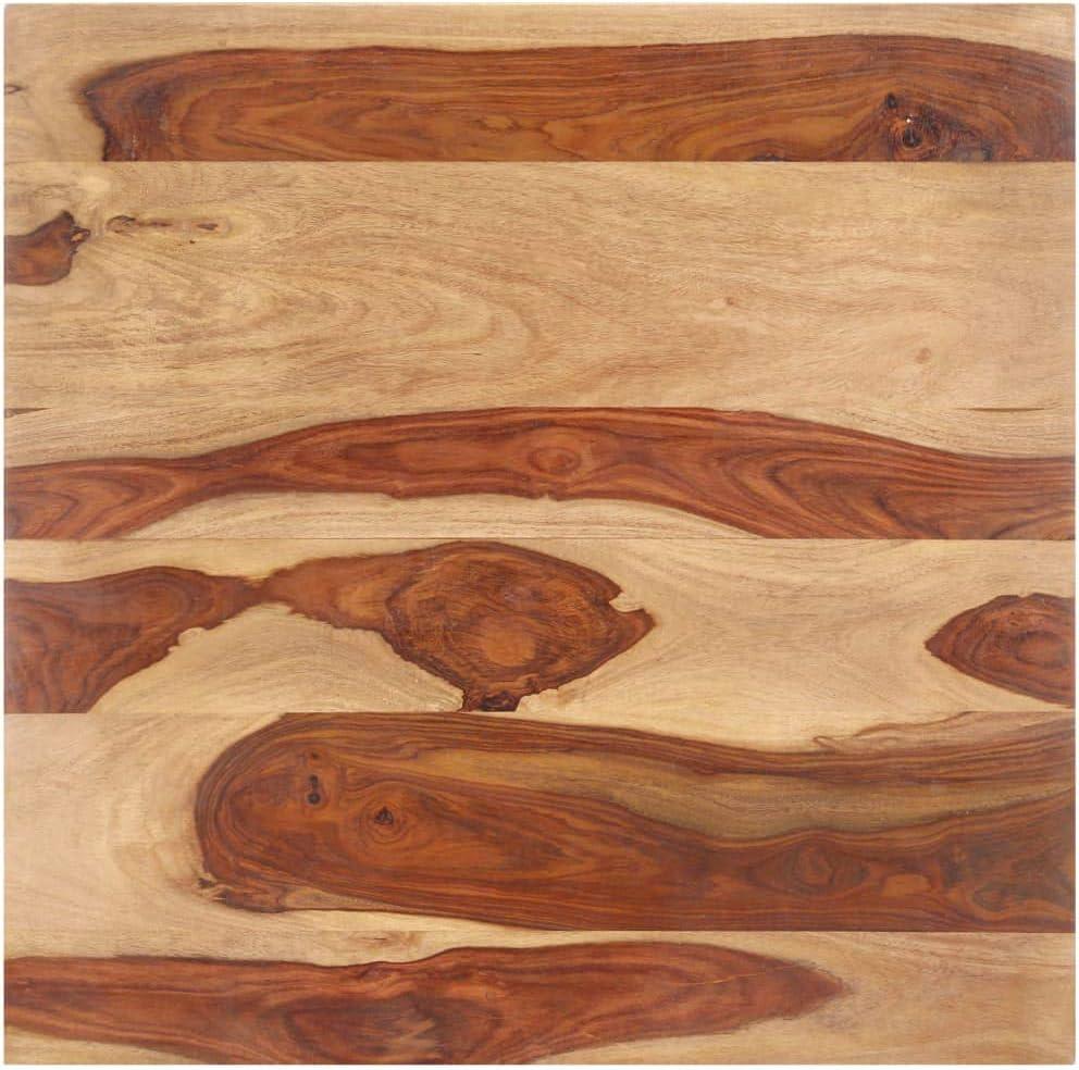 vidaXL Sheesham Wood Solid Table Top Solid Wood Top Replacement ...
