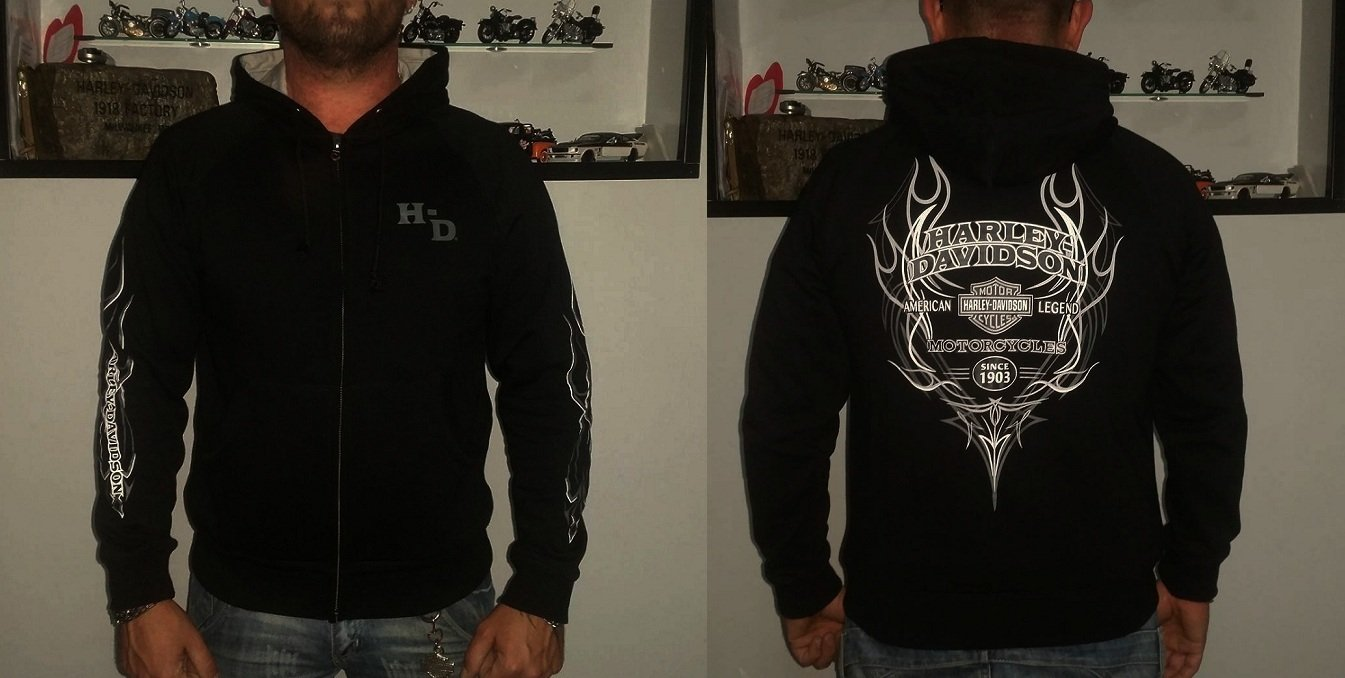 Harley Davidson Sudadera con capucha logo emblema Chaqueta ...