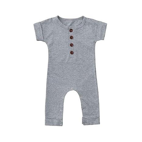 Ropa de bebé, HEHEM bebé bebé niños y niñas manga corta pelele ...