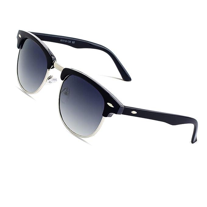 Sonnenbrillen & -zubehör CGID MJ56 clubma Retro Vintage Sonnenbrille im angesagte A Silber-violett