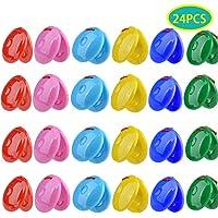 24PCS Finger Colorido Castañuelas Castañuelas Finger Mini Castanet