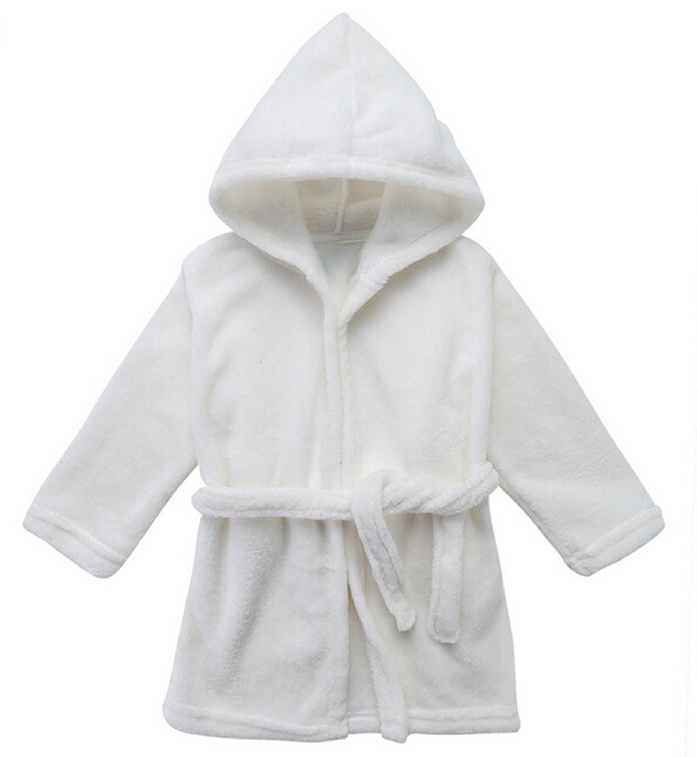 LOSORN ZPY Toddler Unisex Baby Robe Hooded Fleece Bathrobe Towel Kids 9-36 Month LZ-TZ-31