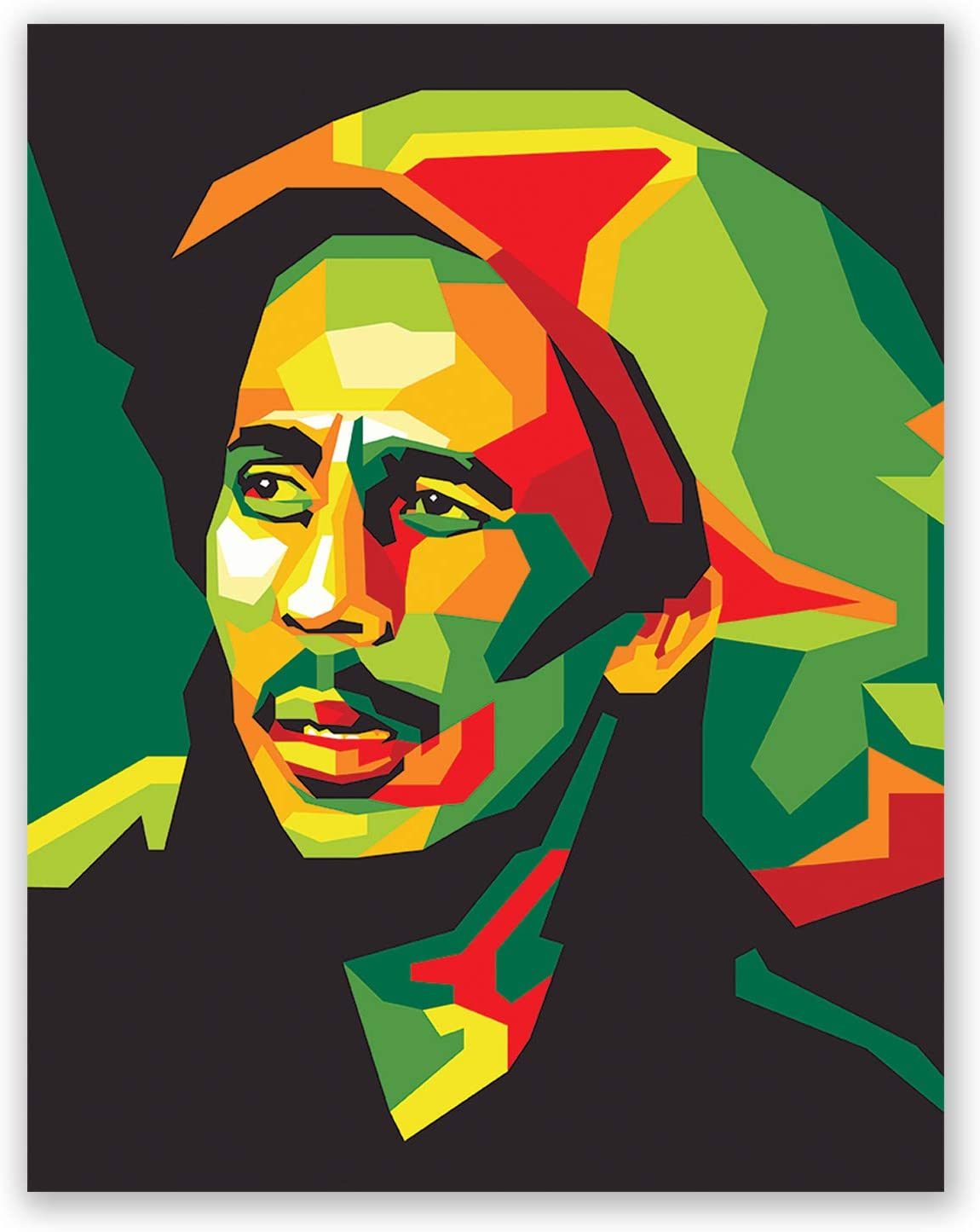 Bob Marley Poster - Pop Art Inspired Art - Bedroom Wall Poster - Living Room Decor - Gift for Men Women (11x14)