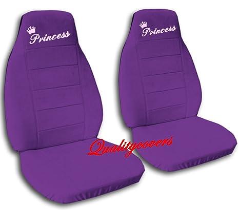 2 Purple QuotPrincessquot Car Seat Covers