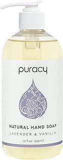 product image for Puracy Natural Gel Hand Wash, Vegan, Hypoallergenic, All Skin Types, Lavender & Vanilla (Lavender & Vanilla, 12 Fl. Oz (Pack of 1)) (PHS12)