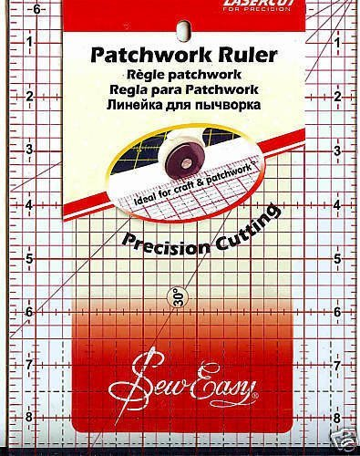 Pandoras Upholstery Sew-Easy Quilters Patchwork Ruler Square 6.5'' X 12'' by Pandoras Upholstery
