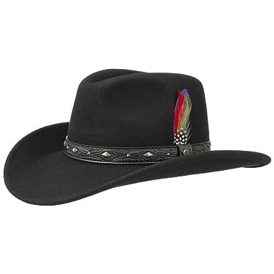 832a98193bc Stetson Ondello Wool Felt Western Hat Rodeo (XL (60-61 cm) - Black ...