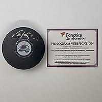 $74 » Autographed/Signed Cale Makar Colorado Avalanches Logo Hockey Puck Fanatics COA