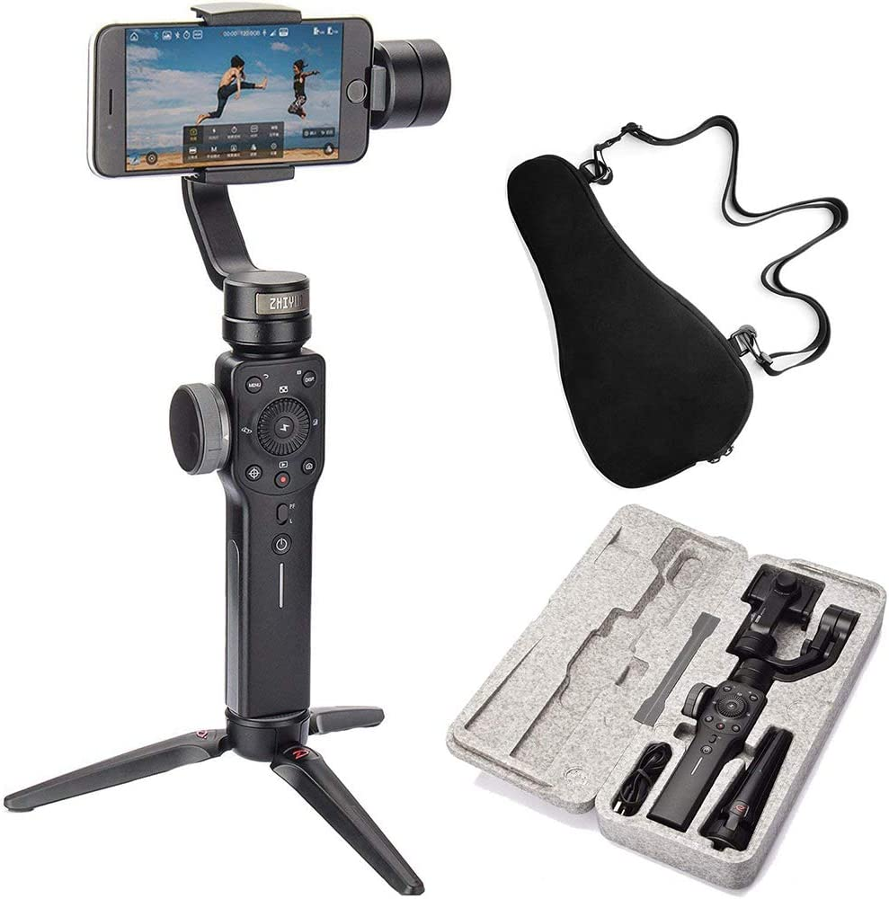 Two-Way Charging /& 12h Runtime Zhiyun Smooth 4 3 Axis Handheld Gimbal Stabilizer Timelapse Expert Object Tracking Black Focus Pull /& Zoom Capability Phonego Mode for Instant Scene Transition