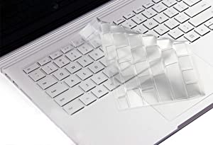 """Clear Keyboard Skin Cover Compatible with Microsoft Surface Laptop 2017, Surface Laptop 2 2018, Surface Book, 2017 or 2018 Released 13.5"""" & 15"""" Microsoft Surface Book 2 (NOT Fit Surface Pro Series)"""