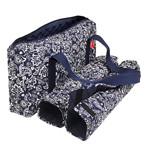 Mahjong Case - NEW! - Empty Mahjong Bag - Paisley Blue Soft Bag by Linda Li™ - Empty Bag Only