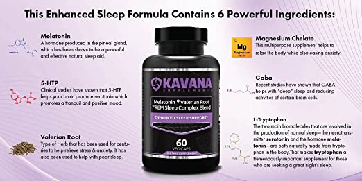 Amazon.com: Fast Acting REM Sleep Complex with Melatonin and Valerian - Non-Habit a Natural Sleep Aid Formula - Veg Caps: Health & Personal Care