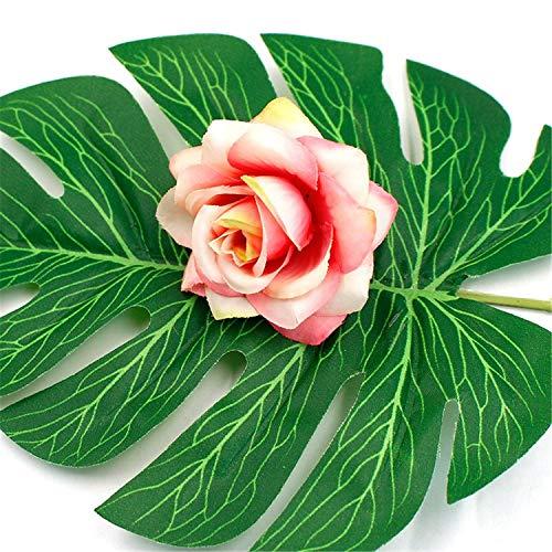 10Pcs/Lot 6Cm Artificial Flower Silk Rose Head Wedding Home Decoration DIY Flower Wall Scrapbook Gift Box Light Pink