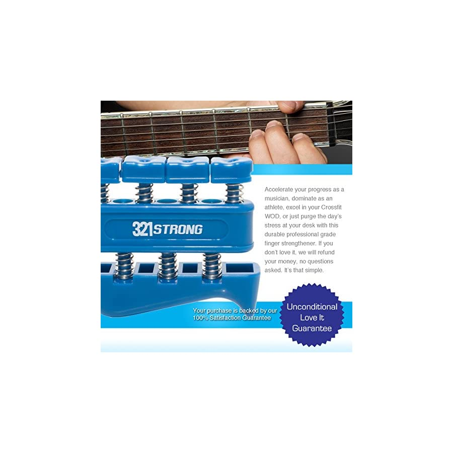 321 STRONG Finger Strengthener Gripper for Guitar