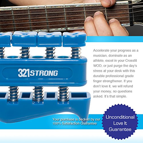 321 STRONG Finger Strengthener Gripper for Guitar