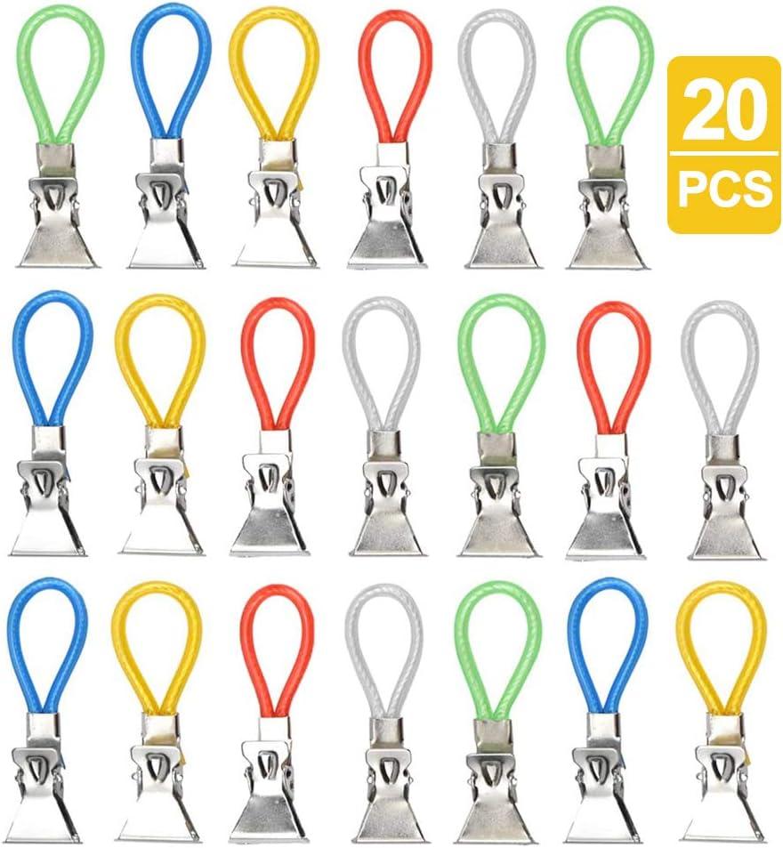 K/ücher Handtuchhalter-Clips Metall Gobesty 20 St/ück Handtuch Haken Clip Multifunktions Handtuchclips f/ür Bad
