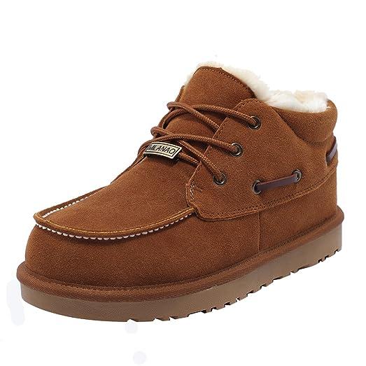 Women's Pure Color Shoelace Leather Flat Short Boots