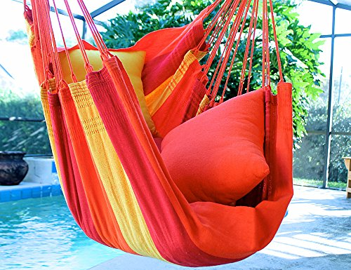 Orange Mix – Fine Cotton Hammock Chair, Made in Brazil