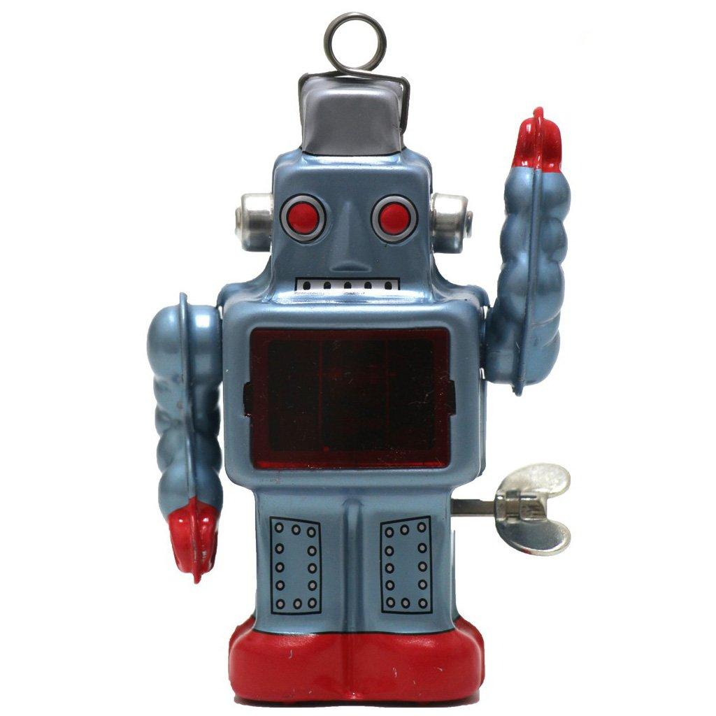 Burekiya Vintage Retro Tin Wind-up Toy - Two Sparkling Robot Set by Burekiya (Image #8)