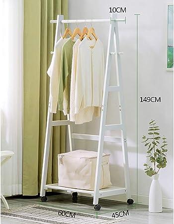 LBMy Percheros Perchero Piso de Madera Maciza Percha fácil Extraíble Dormitorio Sala de Estar Estante de Madera Rack de Almacenamiento percheros Burro (Color : C): Amazon.es: Hogar