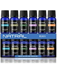 NATRÄL Relax Set of 6, 100% Pure and Natural Essential Oil, 6/10ml Bottles