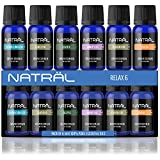 #10: NATRÄL Relax Set of 6, 100% Pure and Natural Essential Oil, 6/10ml Bottles